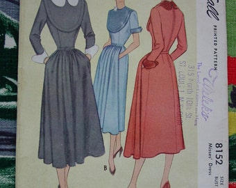 Vintage Pattern c.1950 McCall No.8152 Dress, Size 14