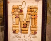Wine Cork Letter with Custom Name