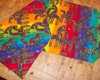 Table topper, Table Runner, Dresser Scarf, Safari, Giraffe, Tiger, Lion, Cheetah, Zebra.  Wild Animal. Designer Scarf