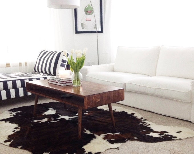 Featured listing image: Mid Century Coffee Table Solid Wood - MADE TO ORDER