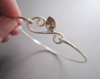 CITRINE FLORISH bangle bracelet