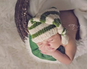 KNITTING PATTERN ONLY!  Stripe Stocking Hat- Newborn