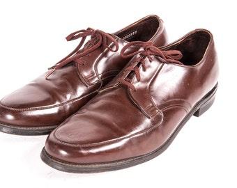 1960's Men's BROWN Dress Shoes Size 11 E WIDE