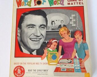 Vintage Board Game - Word for Word Game - Vintage Mattel - Merv Griffin - Mattel Toys