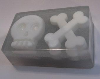 Davey Bones Soap Glow-in-the-dark, skull and crossbones, pirate, Halloween