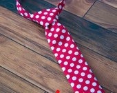Little Man Ties - Baby Ties - Toddler Ties - Special Occasion - Photography Prop Tie - Red White Dot Tie - Christmas Tie - Valentines Tie