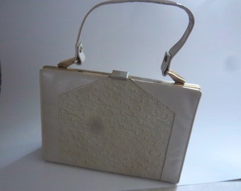 Mar-Shel Handbag   Purse   Vintage Beige Purse