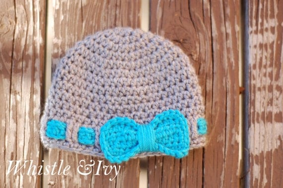 Little Bow Baby Hat