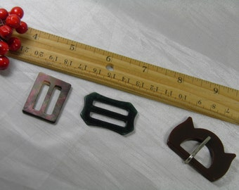 Set of 3 Women's Belt Buckle Vintage Collection for Clothing, Accessories, or Supplies