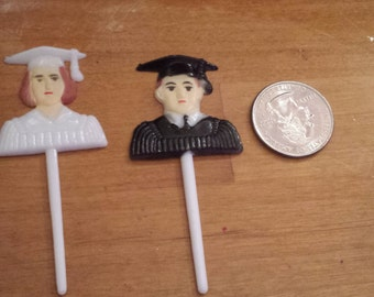 Graduation picks charms  for favors /capias cupcake topper