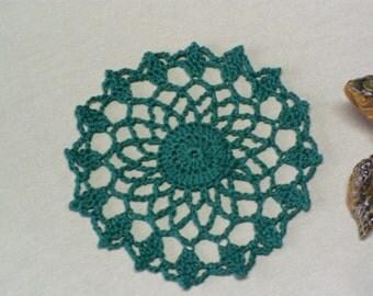 Tiny Crocheted Christmas Doily
