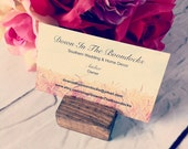 Rustic Chic  Wood Place Card Holders Wedding Place Card Holders Buisness Card Holder Country Wedding Wood Card Holders Wedding Place Cards