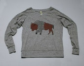 SALE Bison Shirt, Yoga Pullover, Back to School