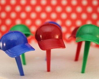 Hat Cupcake Picks / Toppers / Ball Cap / Baseball / Decorations
