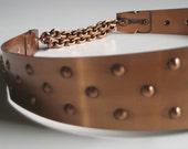 Vintage Renoir copper studded belt