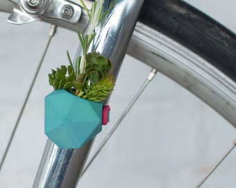 Geometric Bike Planter, in Mint: Wearable Planter