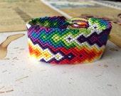Double Rainbow Chevron friendship bracelet