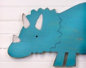 Triceratops Dinosaur Nursery Dino Sign Decor Kids Bathroom Wall Art