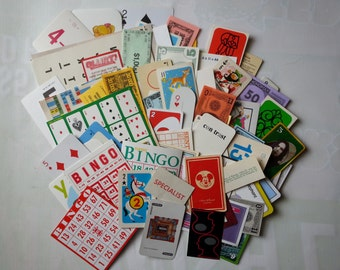 100 + fun and games ephemera . game pieces . assorted game papers assorted game pieces embellishment paper vintage game ephemera party decor