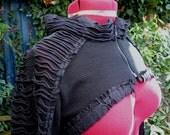 black on black cybergoth shrug post apocalyptic bolero - last one