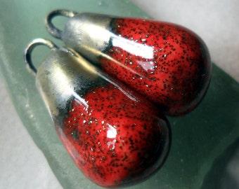 Porcelain Bronzy Droplets Ruby Shimmer