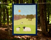 Sheep Baby Quilt- Fields and Hills