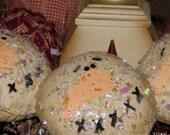 Primitive Christmas Snowman Bowl Fillers Ornies Tucks