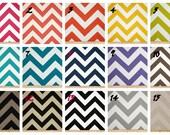 More Colors - Square Pouf Floor Pillow Charcoal White Zig Zag Chevron