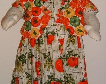 Tomato Festival! Little Girl's Handmade Dress and Reversible Jacket