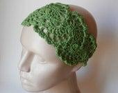 HeadBand- Crochet Headband-   Hair Fashion Accessories - Crochet HairBand in Grass Green