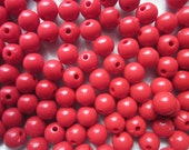 SALE - Red Acrylic Beads 8mm 20 Beads
