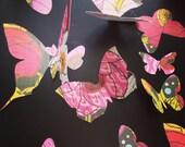 3d wall butterflies, set of 20 Assorted Butterflies, ready to ship