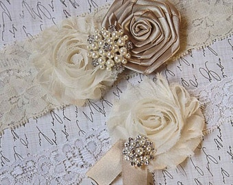 53 DIFFERENT COLORS-Wedding Garter-Ivory Garter Set-Bridal Garter-Lace Garter-Wedding Garter