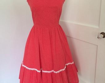 Red dottie dress