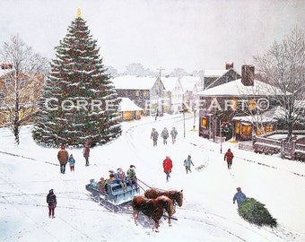 Christmas On Dock Square, Rockport, MA