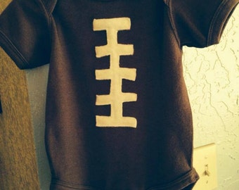 Football knit onesies for babies -- 24 months