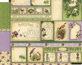 BOTH March Pages - RETIRED Graphic 45 Place in Time  ** See Discounted Shipping Note**