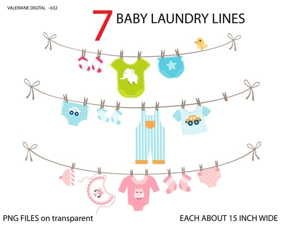 Baby laundry line clipart baby clothes line clip art clipart