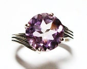 """Reserved - Amethyst ring, amethyst, cocktail ring, purple ring, purple, purple jewelry,   s7 -  """"Rose De France"""""""