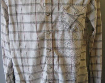 WESTERN Shirt by MICROS LA Pearl Snaps Rockabilly -Men's Small