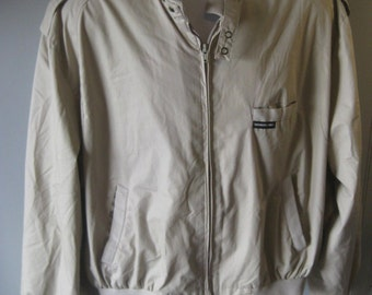 MEMBERS ONLY Vtg 80s Jacket Motorcycle Cafe Racer -Tan- size 46- M55