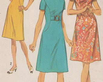 FACTORY FOLDED 1971 Misses' Full Figure Dress Simplicity 9383 Size 18 1/2  Bust 41