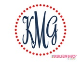 "Custom Personalized Car Window Decal Sticker POLKA DOT Frame Script Monogram or Any Color Monogram 5"" high"