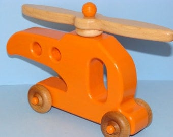 Wooden Helicopter - Ready to Fly - LARGE