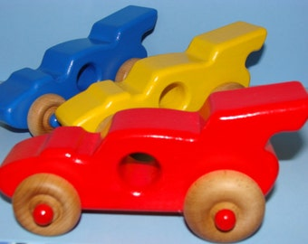 Wooden Racing Cars - (Set of 3) a great gift idea