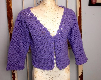 Cordially Callen PDF Crochet Pattern Seamless Sweater Instant Download Women Teens Bolero Shrug Cardigan Brides Weddings Prom XS to 2X