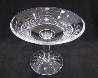 Vintage Waterford Crystal Compote Glandore Pattern 5 inch