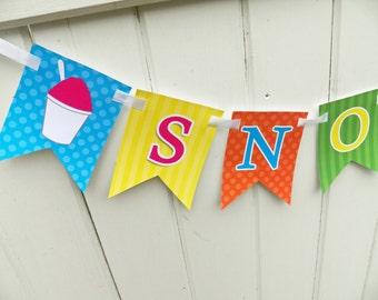 Snow Cones Bunting Banner Printable - Instant Download - Frozen Fun