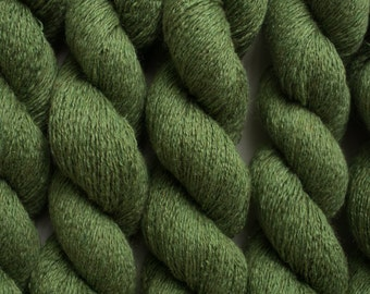 Evergreen Silk Cashmere Lace Weight Recycled Yarn, 315 Yards Available