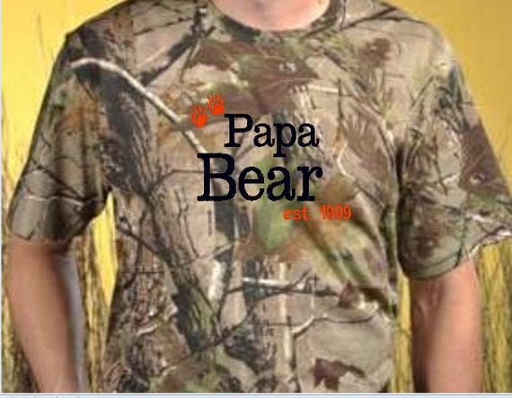 Men 39 S Realtree Camo Shirt With Papa Bear By